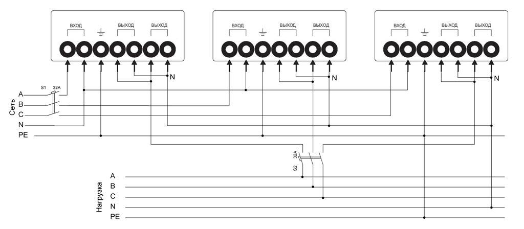 Схема для коттеджа со стабилизатором 15-25 кВт